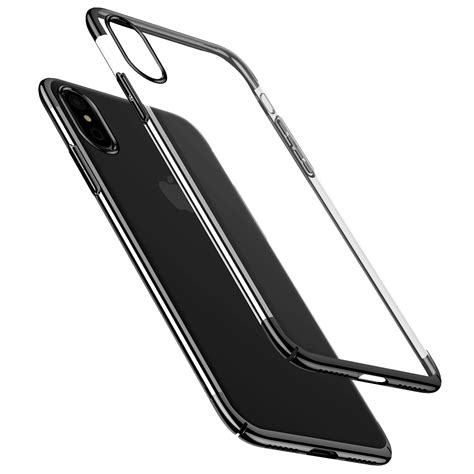 Plating Phone Iphone X baseus plating ultra thin clear transparent pc