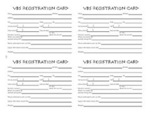 church volunteer info registration card template printable vbs registration form template conference