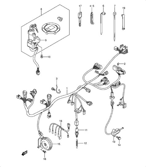 suzuki 36619 38g00 000 guide wiring harness