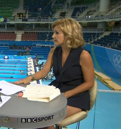 helen skelton rio olympics 2016 host wardrobe malfunction olympics presenter helen skelton flashes her legs in racy