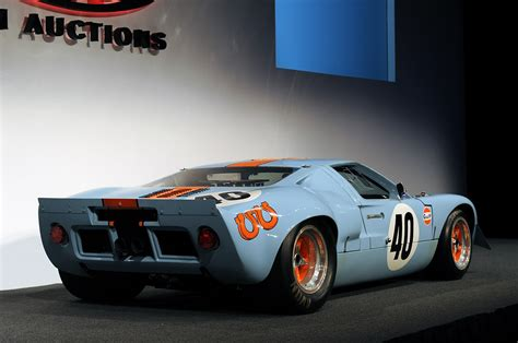 gulf gt40 1968 ford gt40 gulf mirage auctioned for a record 11