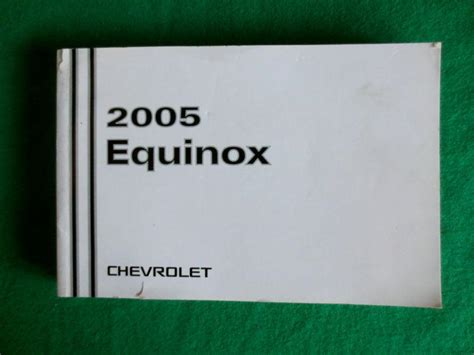 service manual automotive service manuals 2005 chevrolet equinox user handbook door chimes