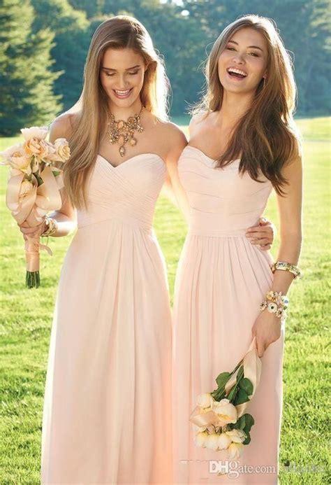 Longdress Softflow 2018 pink navy cheap bridesmaid dresses mixed neckline flow chiffon summer blush bridesmaid