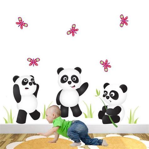 panda wall stickers panda bears nursery wall stickers