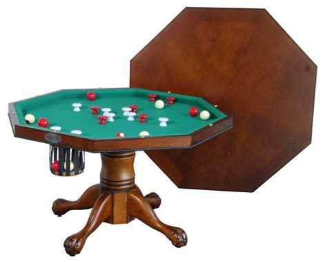 Berner Billiards 3 In 1 Table Octagon 48 W Bumper Pool