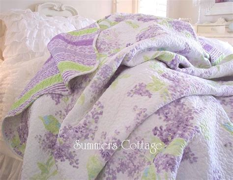 lavender lilac full queen quilt shabby chic romantic home cottage living