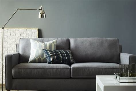 upholstered couch cushions gray suede upholstered small couch with accent cushion