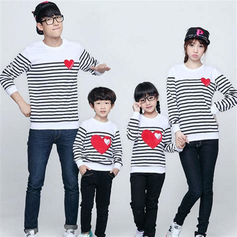 family clothes family matching clothes spring autumn long sleeve love