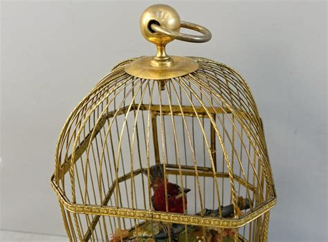 gabbia dorata automa gabbia musicale dorata uccelli canterini meccanici