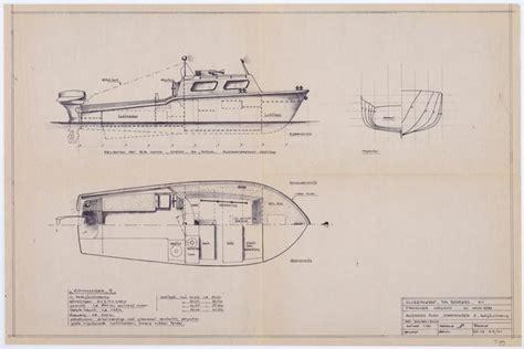 motorboot 3 tot 6 meter scheepsbouwtekening van een motorboot van 6 meter