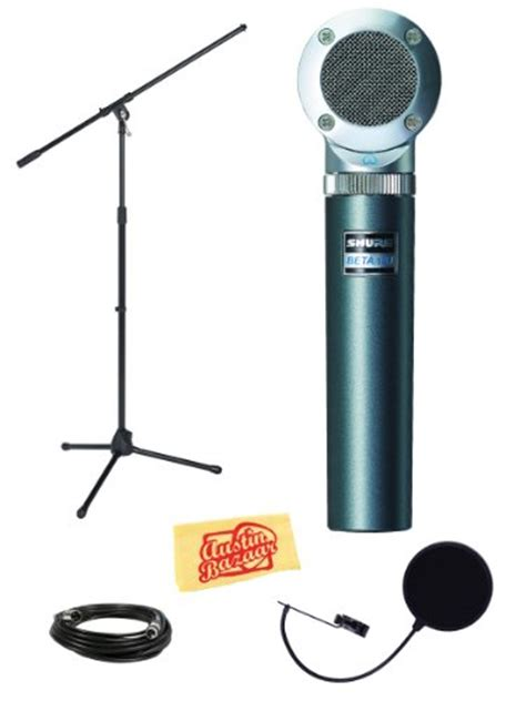 Stand Mic Boom Pop Filter shure beta181 c cardioid condenser microphone bundle with boom stand mic pop filter xlr