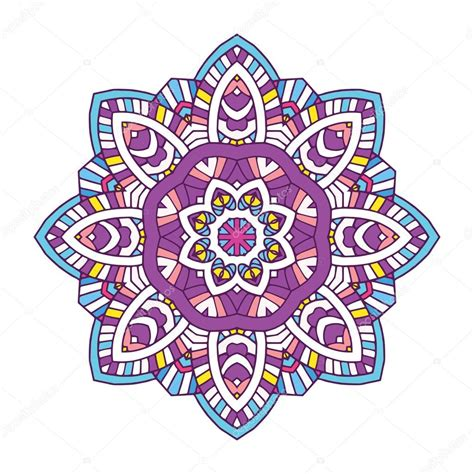 imagenes de mandalas florales mandala de flores color vector de stock 112174056