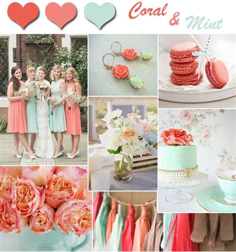 fresh coral and mint wedding colors for and summer weddings outlandish events