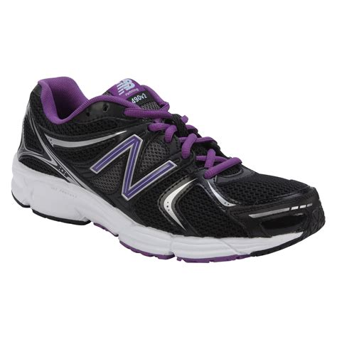 womens wide athletic shoes new balance s 490v2 black purple running athletic