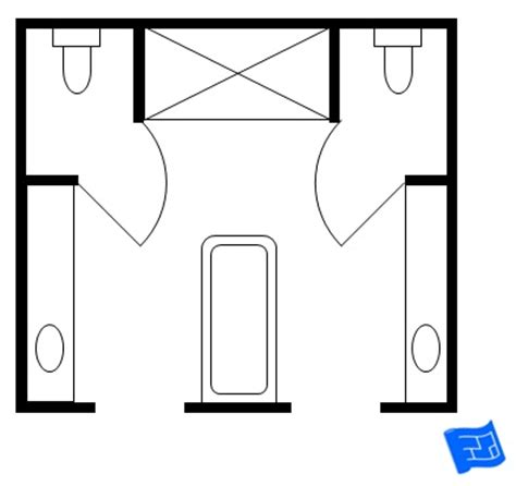 his and bathroom floor plans master bathroom floor plans