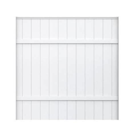 veranda 6 ft h x 6 ft w white vinyl fence panel 153149