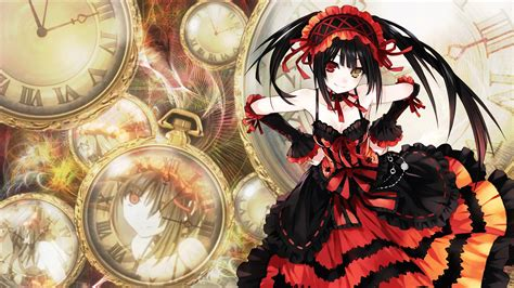 wallpaper anime date a live kurumi tokisaki full hd wallpaper and background image