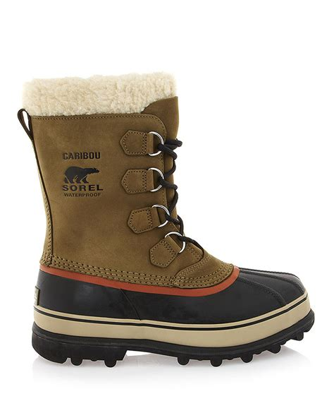 sorel boots sale sorel olive leather caribou boots designer footwear sale