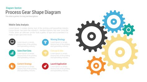 powerpoint templates free download gears process gear shape diagram powerpoint keynote template