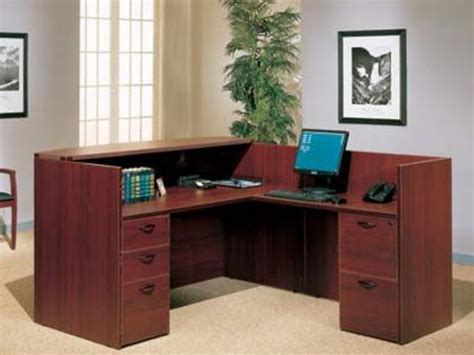 used office desks new mahogany reception desk