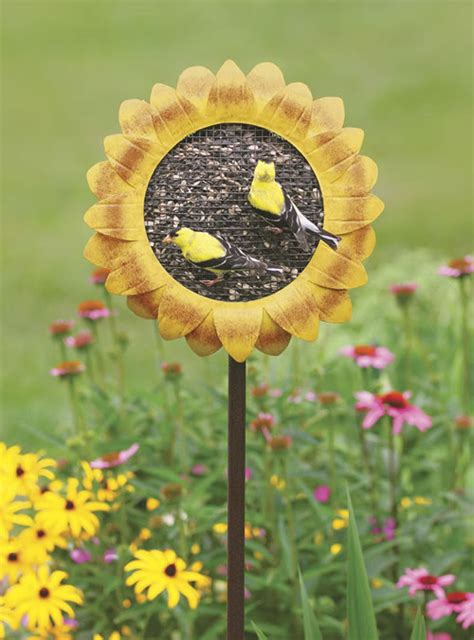 duncraft com sunflower staked bird feeder