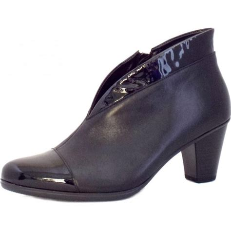 gabor enfield black leather shoe boots mozimo