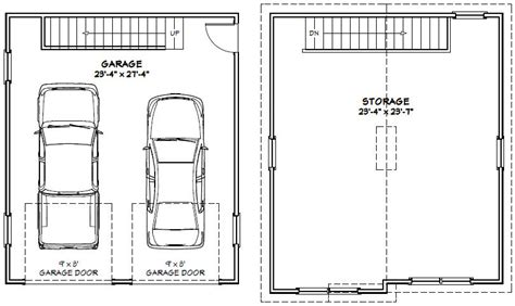 how many square is a typical 2 car garage 24x28 2 car garage 24x28g4 1 298 sq ft excellent floor plans