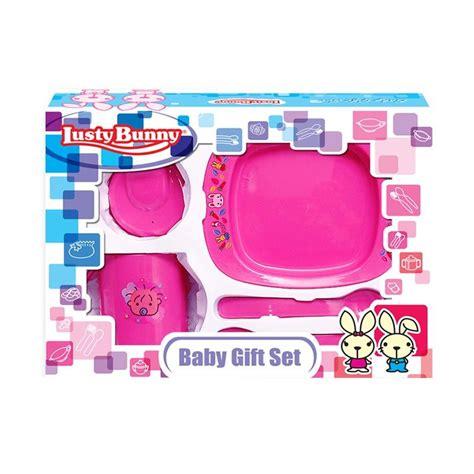 Feeding Set Makan Lusty Bunny Kecil jual lusty bunny tempat makan bayi feeding setlb1411b pink peralatan makan bayi harga