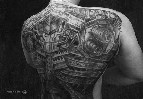 tattoo biomechanical back biomechanical full back tattoo cool tattoos continues