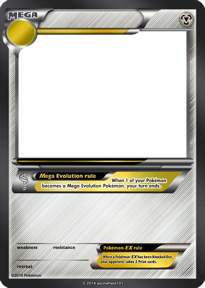 ex card template xy blanks mega metal by aschefield101 on deviantart
