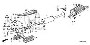 Honda Crv Exhaust System Diagram Honda Store 2008 Crv Exhaust Pipe Muffler Parts