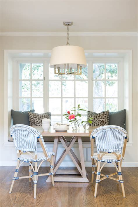 Banquette Window Seat Nook Transitional Dining Room Amanda Teal Design