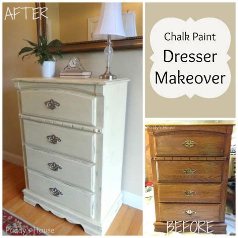 Chalk Paint On Dresser by Chalk Paint Dresser Makeover Puddy S House