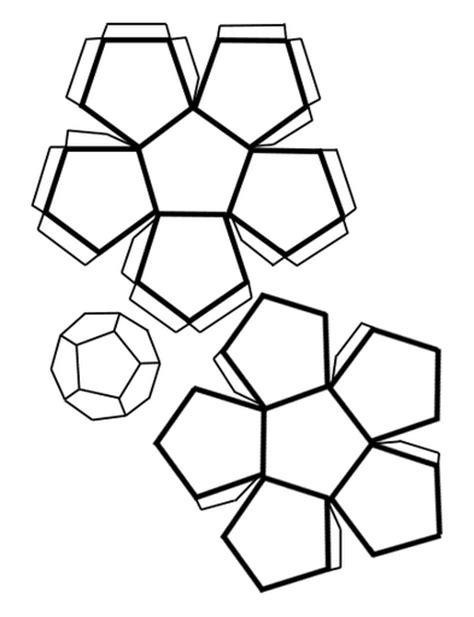 imagenes con figuras geometricas ocultas plantilla para hacer un dodecaedro pentagono