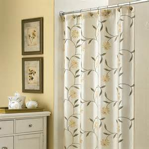 White Valance For Bathroom Semi Batik Yellow And Gray Color Pattern Placed On The