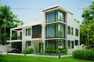 Contemporary Home Design Plans Modern House Design 2012002 Eplans