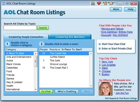 aim chat rooms an updated aim chat directory in 2013