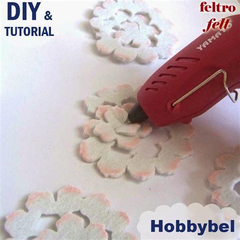 fiori feltro tutorial romantici fiori di feltro sfumati di rosa tutorial idea