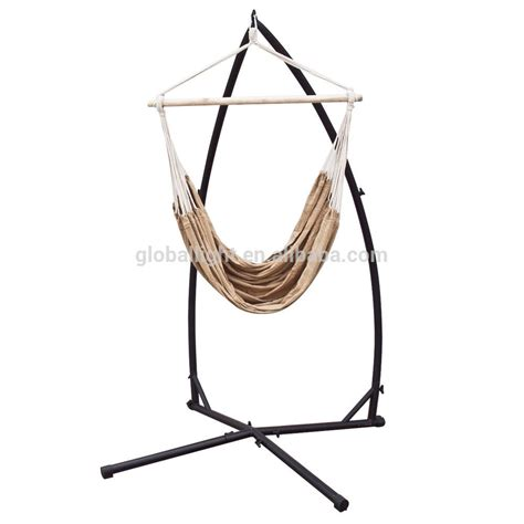 chair swing stand hammock steel c frame stand porch cotton rope swing chair