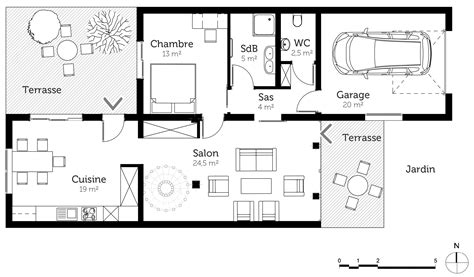Plan Of Duplex by Plan Maison Duplex 150 M 178 Ooreka