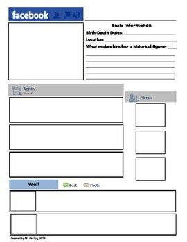 best photos of printable facebook template facebook page