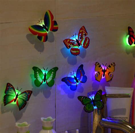 ev dekorasyon  isikli led pvc kelebek  lu duvar