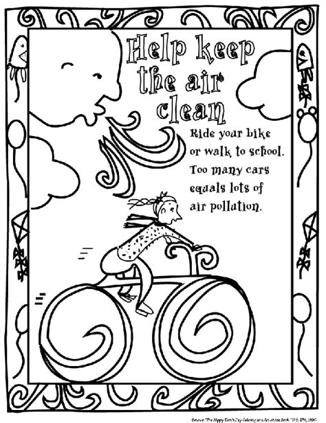 coloring book pages environment environmental coloring sheets minnesota pollution