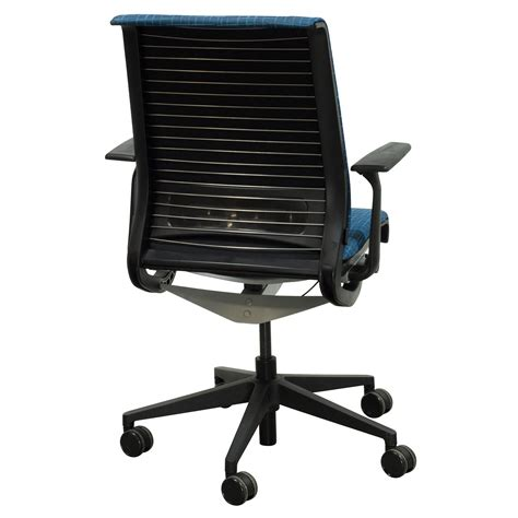 Think Chair Steelcase by Steelcase Think Used Conference Chair Blue Perpendicular Pattern National Office Interiors