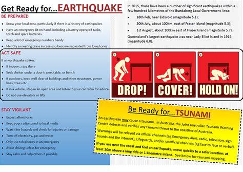 earthquake procedure disaster management bundaberg regional council
