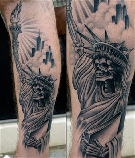lady liberty tattoo 30 awesome statue of liberty tattoos