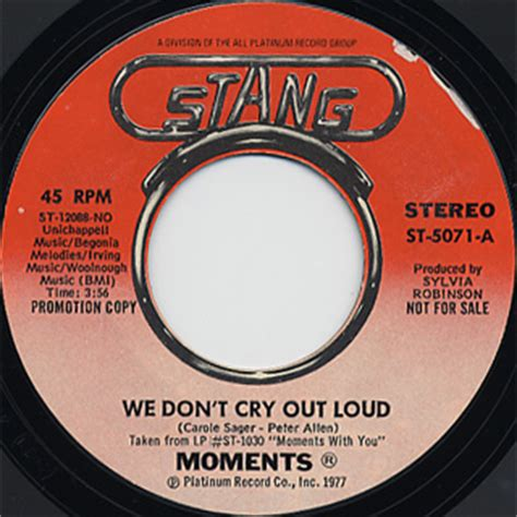 we don t cry we try back to school we don t cry we try play your horn volume 1 books moments we don t cry out loud stang 中古レコード通販 大阪