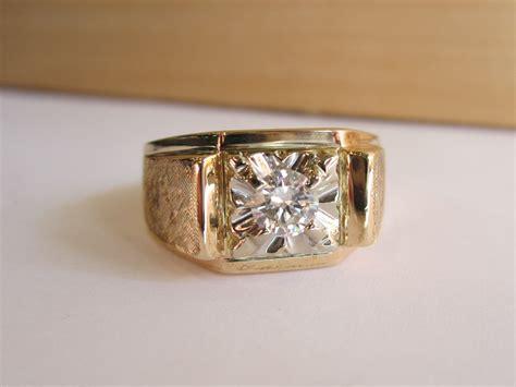 mens ring vintage 10 14k gold ring mens