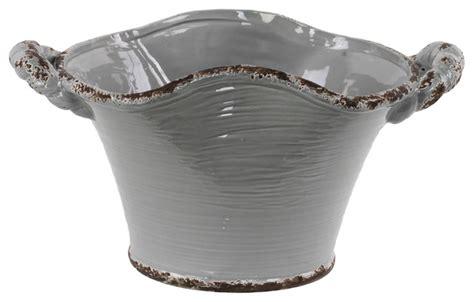 Ceramic Indoor Planters by Ceramic Tapered Tuscan Pot Mediterranean Indoor Pots