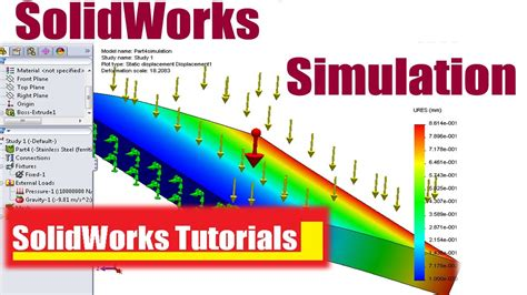 solidworks tutorial introduction 1 solidworks simulation introduction youtube